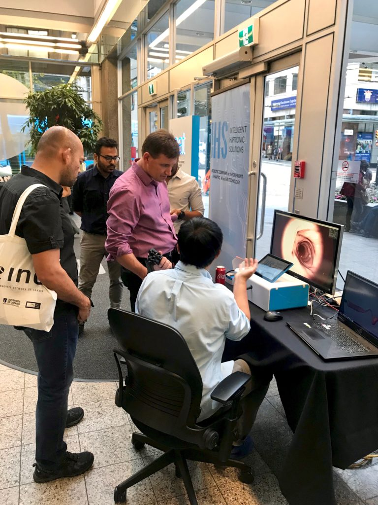 Intelligent Haptronic Solutions demo at Vancouver Startup Week